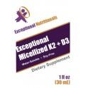 Exceptional K2 + D3 Micelized (1oz)